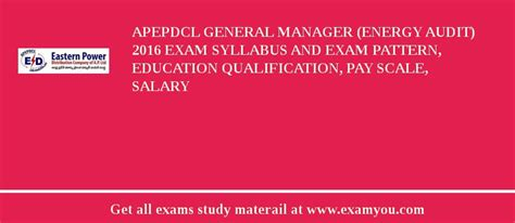 pattern energy salary apepdcl general manager energy audit 2018 exam syllabus
