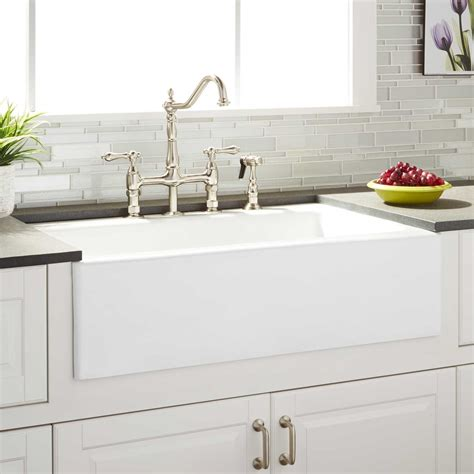 Kitchen Faucet For Farmhouse Sinks 33 Quot Almeria Cast Iron Farmhouse Kitchen Sink Kitchen