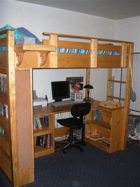 modified loft bed    home projects