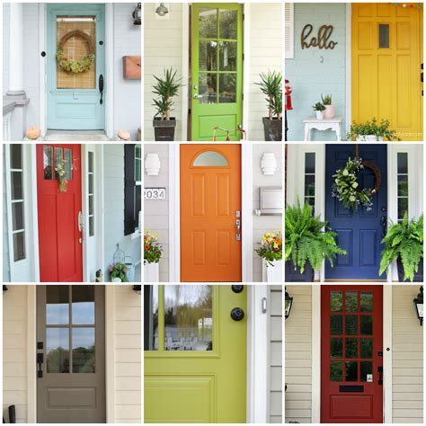 colorful door door photo collage stock image vertical photo collage