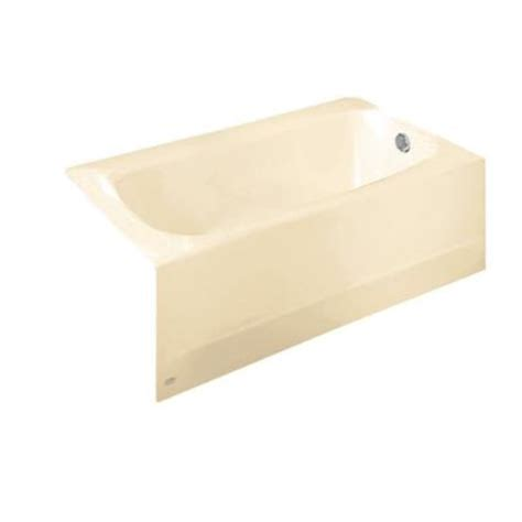 american standard americast bathtub american standard cambridge 5 ft americast bathtub with right hand drain in bone 2461