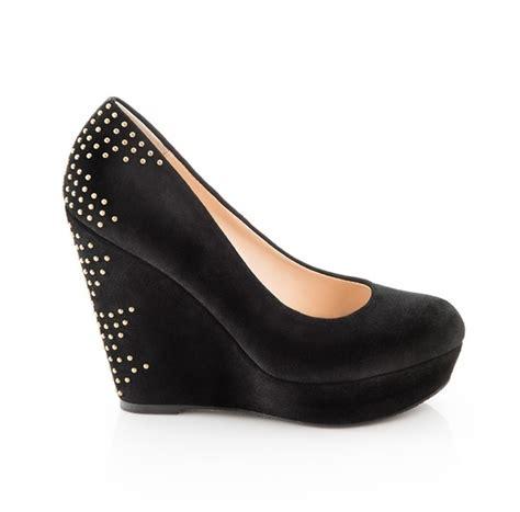 Fashion Wedges Shoes 1518 Aa studded black wedge style fashion shoes