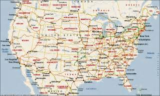 us map states cities labeled united states map
