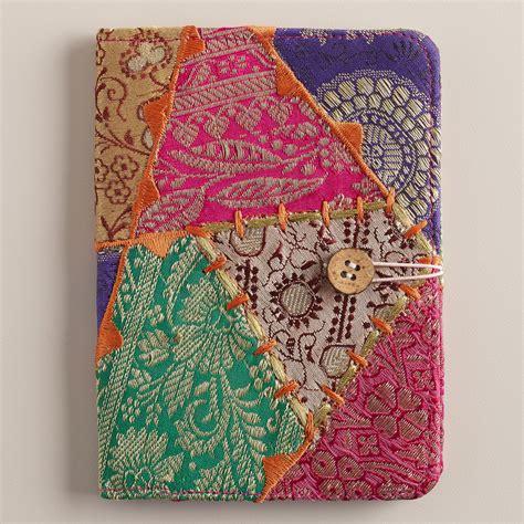 sari patchwork curtain sari patchwork passport holder world market