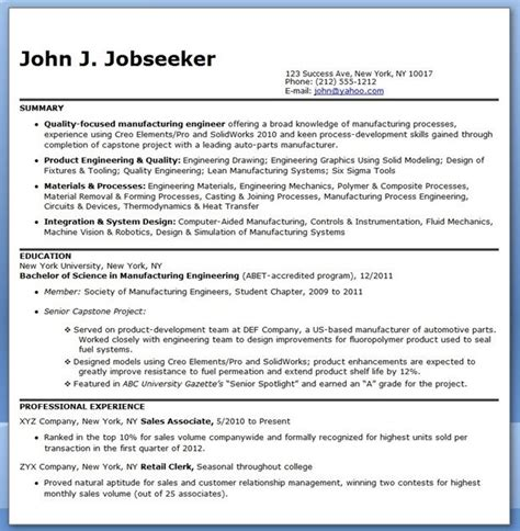 production worker resume resume for manufacturing jobs plant manager