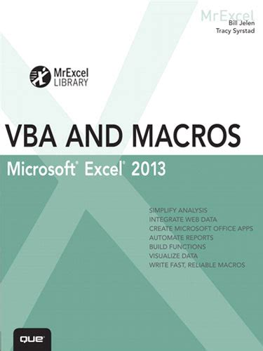 Vba And Macros For Microsoft Excel by Vba And Macros Microsoft Excel 2013 Mrexcel Products
