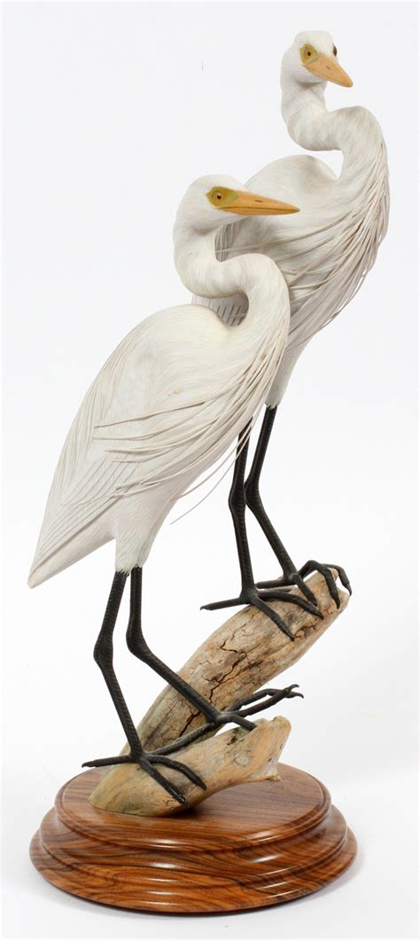 And Bird Sculptures by Dan Williams Carved Wood Bird Sculpture