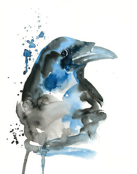 watercolor tattoo raven watercolor idea ravens crows