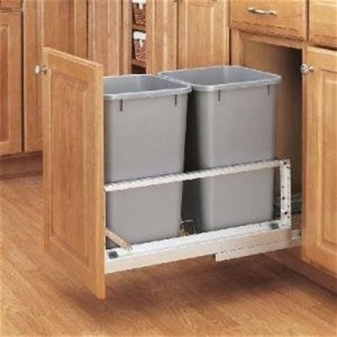 amazon com double 27 quart pull out waste container for
