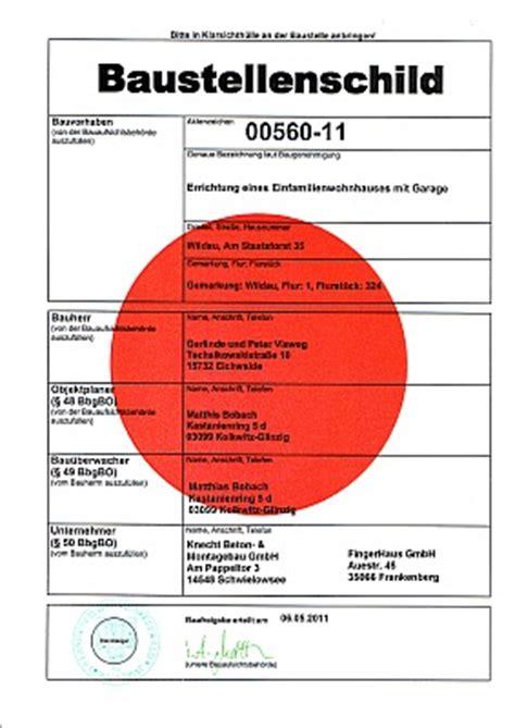 Baustellenschild Roter Punkt Berlin by Unser Bauvorhaben In Wildau Mai 2011