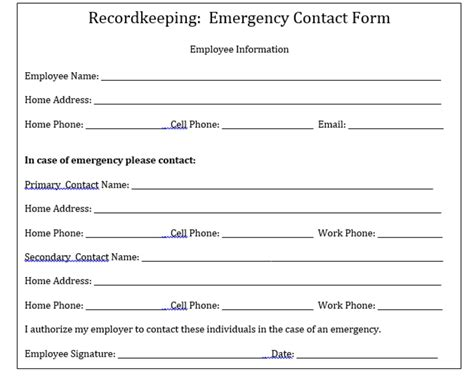Emergency Contact Card Template Uk by Why Your Company Needs To Keep Emergency Contact