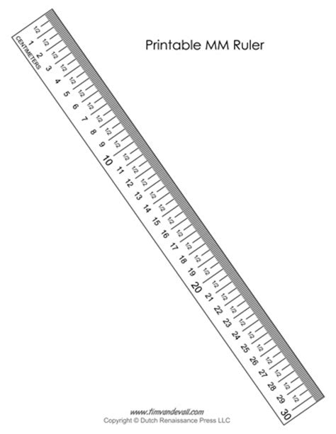 Printable Ruler Mm Only | printable mm ruler tim s printables