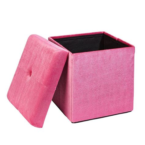 Pink Storage Ottoman Pered Pink Storage Ottoman Pg 40625 Pink The Home Depot