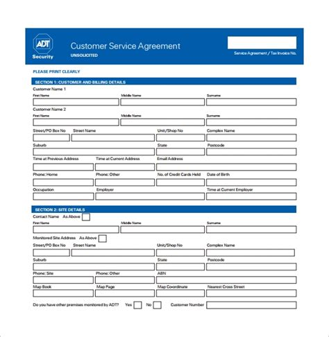 sample service contract templates  google docs ms word pages