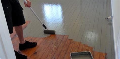 paint wood floors todays homeowner