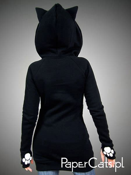 black cat hoodie ears animal by papercatspl on etsy on the hunt
