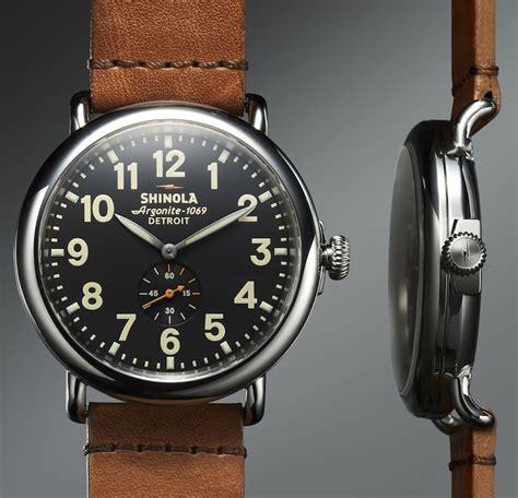 Handmade Watches Detroit - the runwell by shinola 550 usd