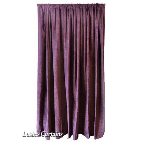 Purple Velvet Curtains Purple Velvet Curtain 96 Quot H Acoustic Noise Sound Reducing Thermal Drape Panel Ebay