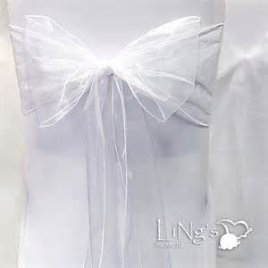 chair covers and bows organza chair cover sash bow wedding anniversary