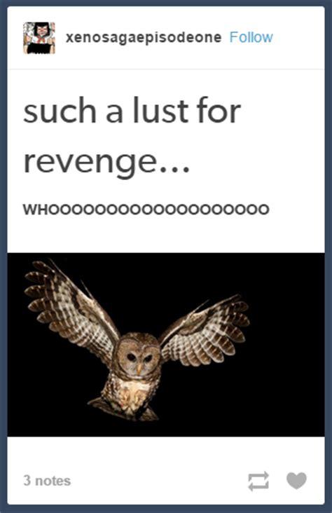 Lust Meme - owl such a lust for revenge know your meme