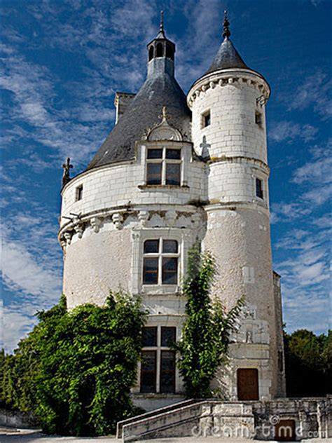 small castle chenonceau france royalty  stock photo