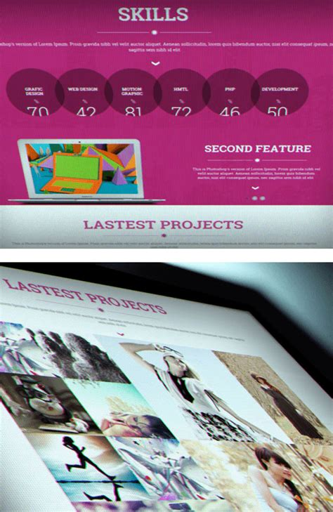 ice create responsive one page html template creative