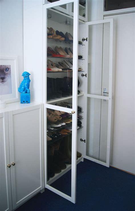 ikea walk in closet hack ikea billy book case white and glass shoe closet ikea