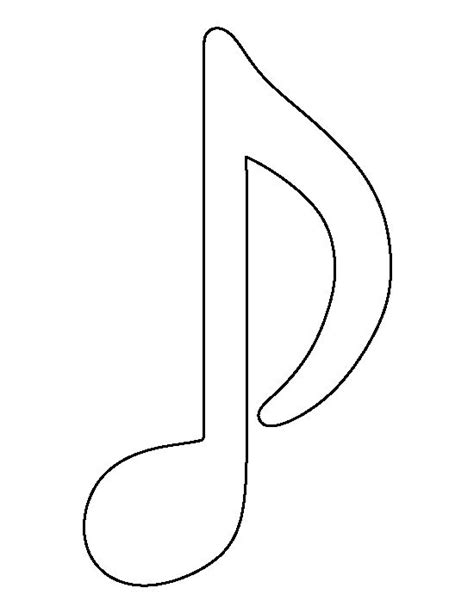 musical notes template 1000 ideas about notes decorations on