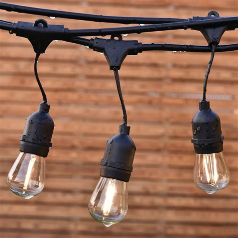 Commercial Grade Patio String Lights 48ft Led Outdoor Waterproof Commercial Grade Patio Globe String Lights Bulbs Ebay