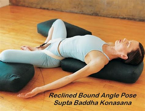 reclining bound angle featured restorative yoga posture supta baddha konasana