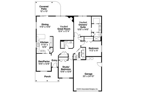Country Style Homes With Open Floor Plans ranch house plans eastford 30 925 associated designs