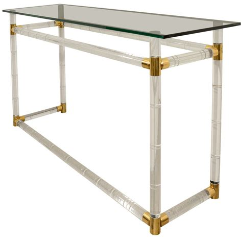 Lucite Console Table Original Lucite And Glass Console Table By Charles Hollis Jones