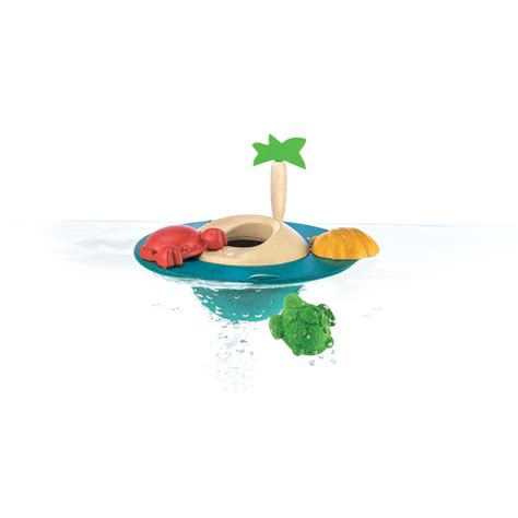 Plan Toys Sea Bath Set Pt5658 floating island by plan toys