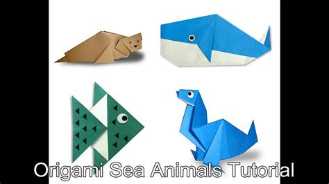 Origami Sea - origami sea animals tutorial