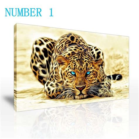 2016 sell modern wall painting animal the cheetah