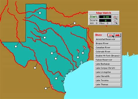 map of texas lakes and rivers world geography deluxe