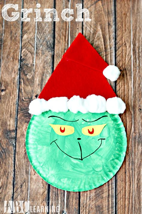 grinch paper images grinch paper plate craft simply today