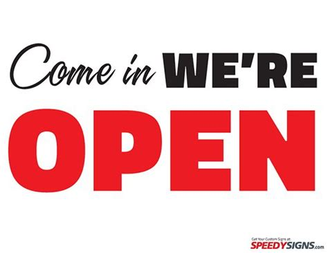 open closed sign template free come in we re open printable sign template free