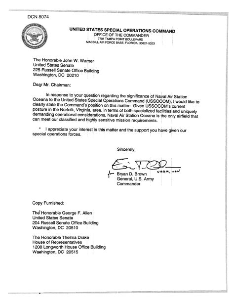 army eo appointment letter executive correspondence letter from us army general
