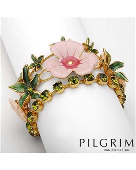 Dompet Wanita Import Branded Fossil Sydney Tab Green Asli Baru pilgrim design swarovski enamel big pink flower bracelet new