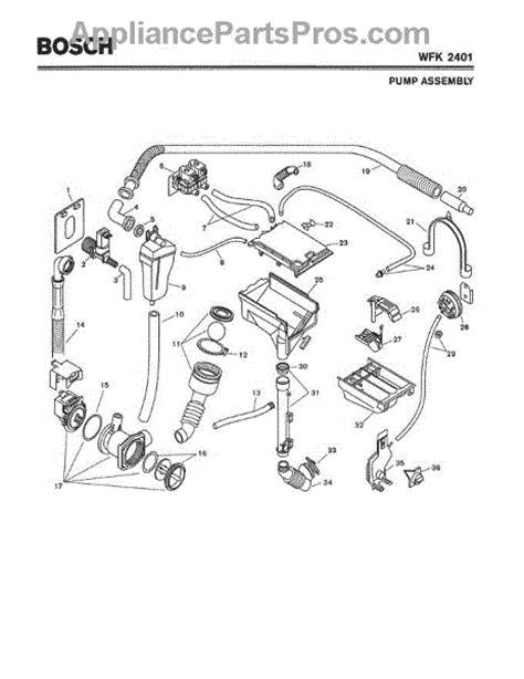 bosch washing machine parts diagram bosch 00144489 drain appliancepartspros