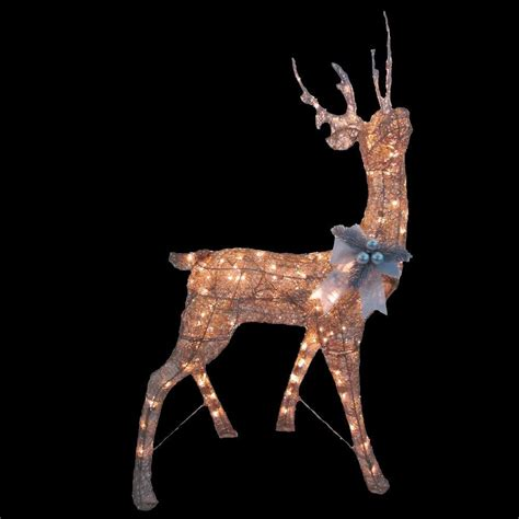 Lighted Outdoor Deer Home Accents 48 In Pre Lit Gold Deer Ty352 1411 The Home Depot