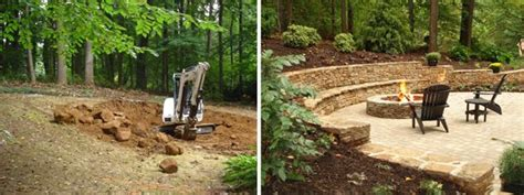 build pit on hill pit on hill search exterior yard ideas
