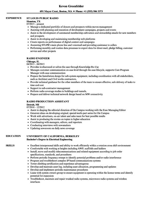 Disc Jockey Resume by Generous Radio Disc Jockey Resume Contemporary Professional Resume Exle Ideas Efelin