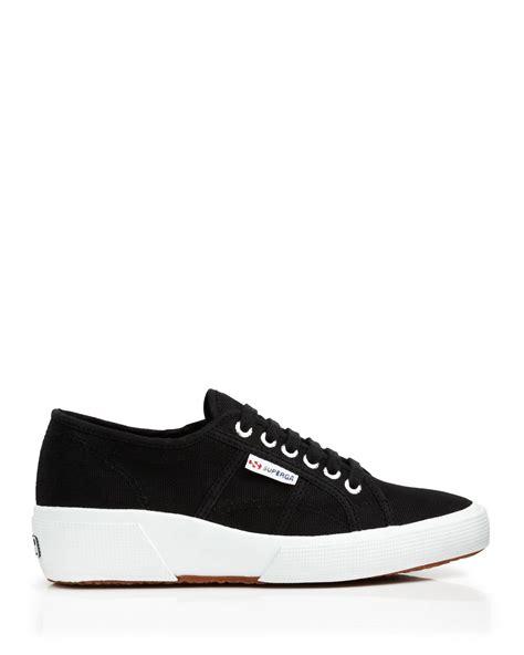 sneakers wedge heel superga lace up sneakers wedge heel in white lyst