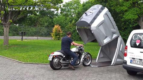 Die Motorradgarage Canada by Weltneuheit Demonstration Der Neuen Bikebox24 Doovi