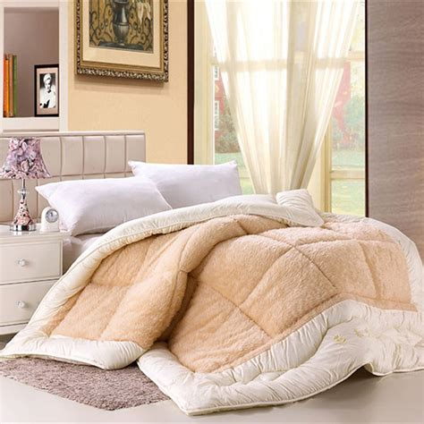 warm comforters camelhair warm winter wool quilt luxury thicken stitching