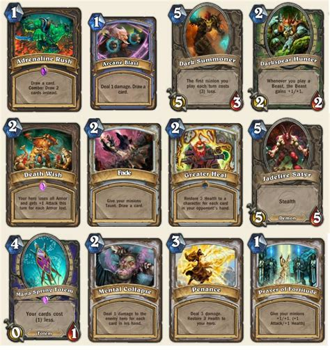 cards removed from the game card discussion hearthstone general hearthpwn forums - Hearthstone Gift Card Canada