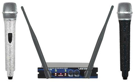 Microphone Werelles Merk Homic vocopro uhf 28 dual channel uhf wireless mic system