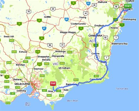 drive from sydney to melbourne map valhalla house b b walhalla gold town